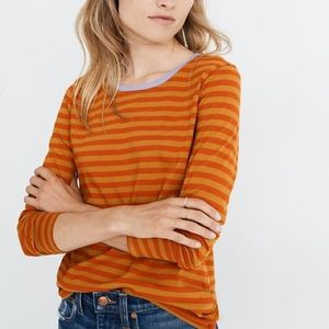 Madewell Striped Long Sleeve Northside Tee Shirt S